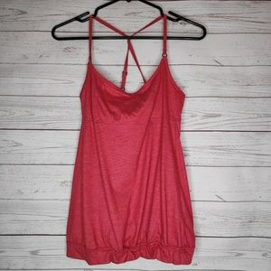 LOLE Red Workout Tank Top Size Small Racerback